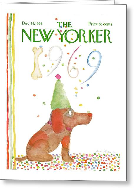 New Yorker December 28th, 1968 Greeting Card