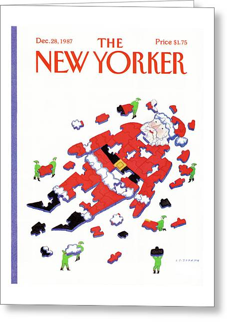 New Yorker December 28th, 1987 Greeting Card