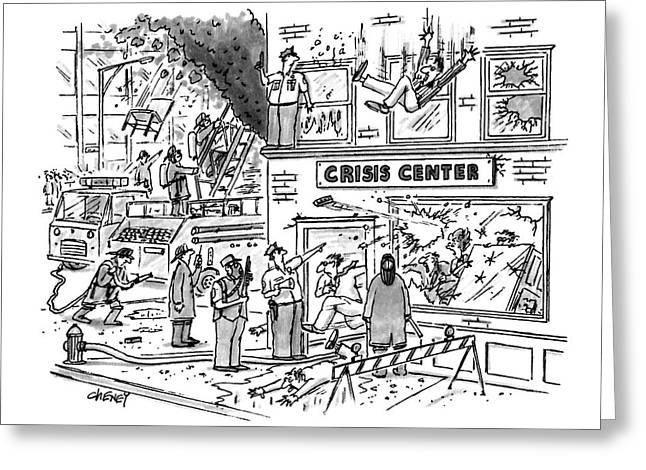 New Yorker December 28th, 1992 Greeting Card by Tom Cheney