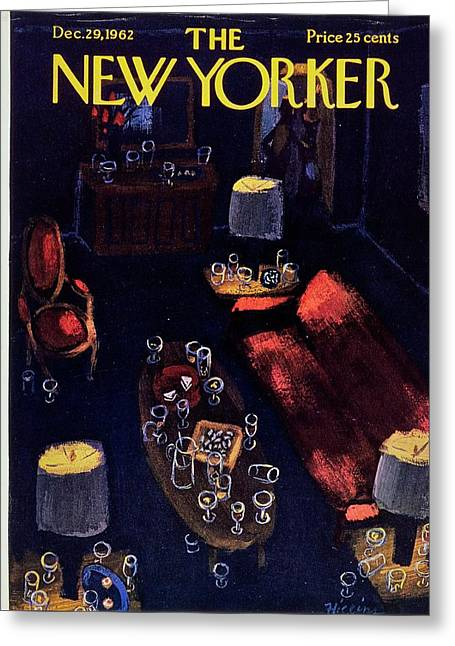 New Yorker December 29th 1962 Greeting Card