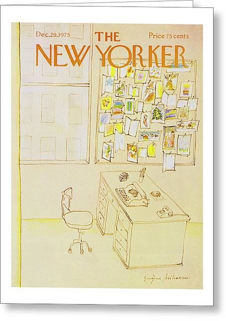 New Yorker December 29th 1975 Greeting Card