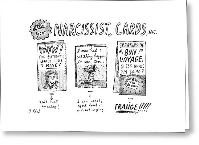New Yorker December 30th, 1985 Greeting Card by Roz Chast