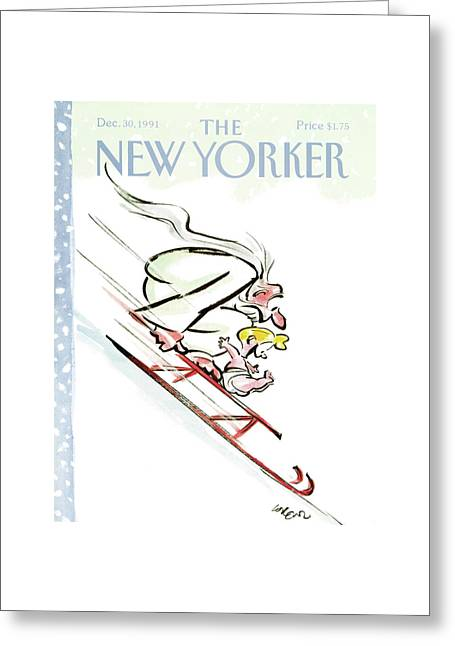 New Yorker December 30th, 1991 Greeting Card by Lee Lorenz