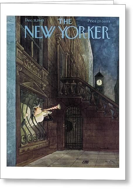 New Yorker December 31st, 1949 Greeting Card