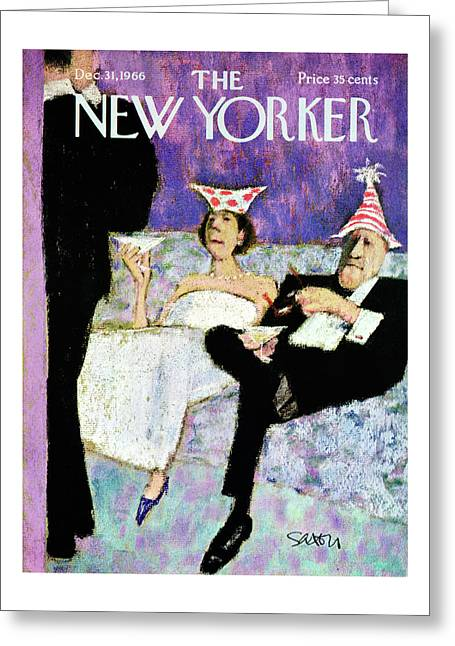 New Yorker December 31st, 1966 Greeting Card