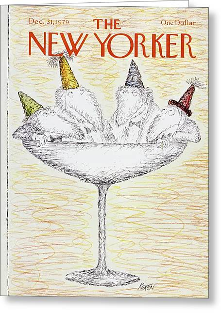 New Yorker December 31st 1979 Greeting Card by Edward Koren