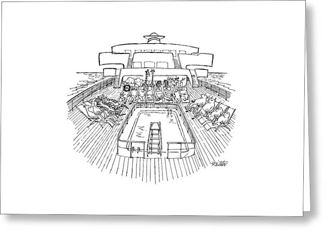 New Yorker December 31st, 1979 Greeting Card by Mischa Richter