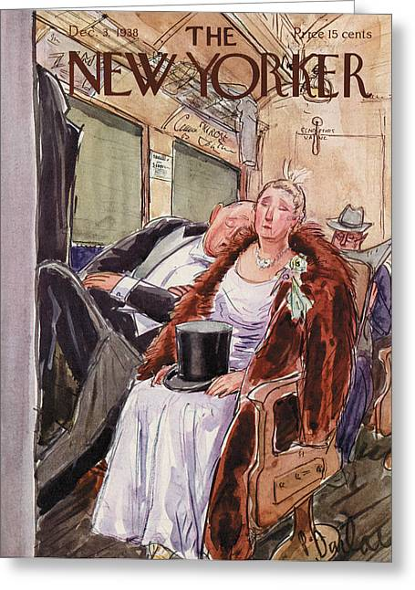 New Yorker December 3rd, 1938 Greeting Card by Perry Barlow