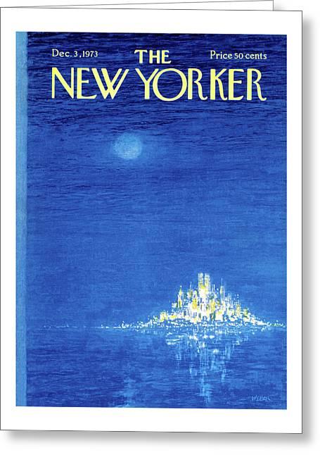 New Yorker December 3rd, 1973 Greeting Card
