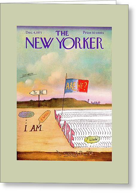 New Yorker December 4th, 1971 Greeting Card by Saul Steinberg
