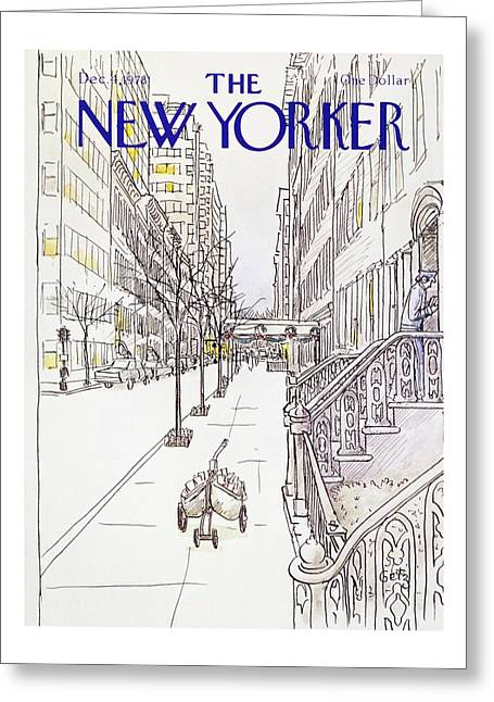 New Yorker December 4th 1978 Greeting Card