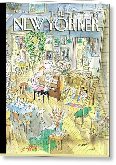 New Yorker December 4th, 2006 Greeting Card by Jean-Jacques Sempe