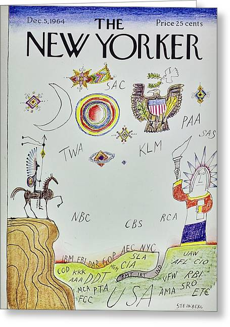 New Yorker December 5th 1964 Greeting Card
