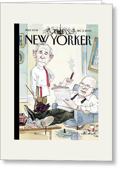 New Yorker December 5th, 2005 Greeting Card by Barry Blitt
