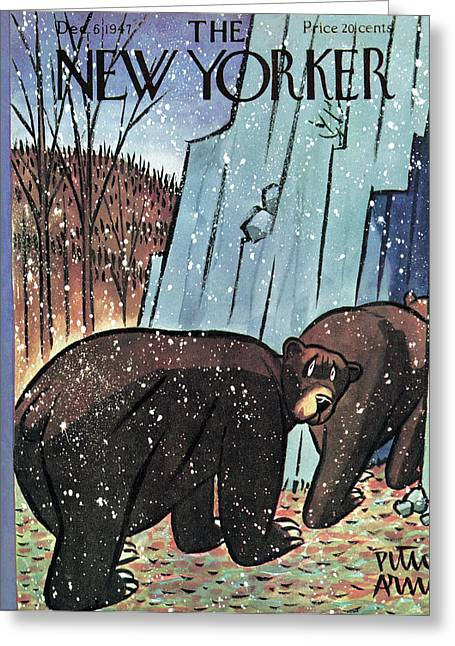 New Yorker December 6th, 1947 Greeting Card