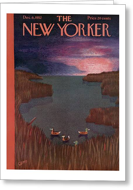 New Yorker December 6th, 1952 Greeting Card