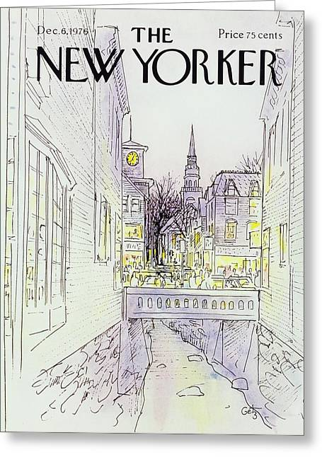 New Yorker December 6th 1976 Greeting Card