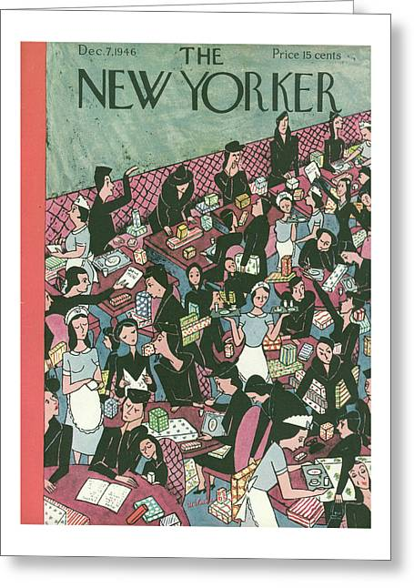 New Yorker December 7, 1946 Greeting Card