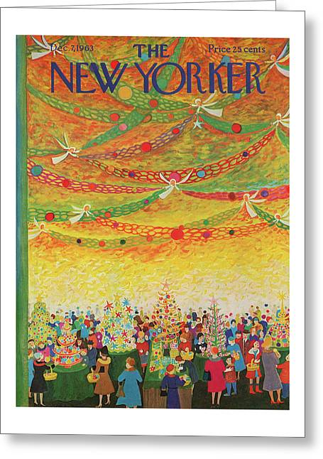 New Yorker December 7th, 1963 Greeting Card