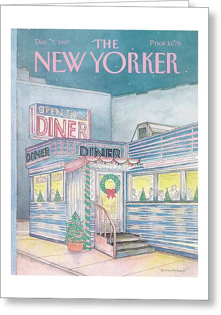 New Yorker December 7th, 1987 Greeting Card