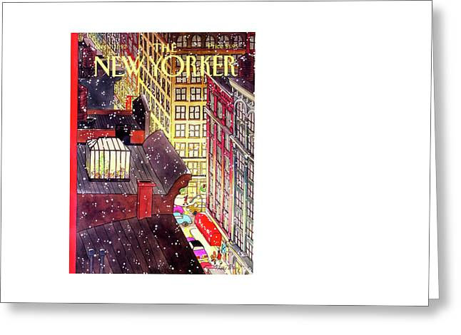 New Yorker December 7th, 1992 Greeting Card by Roxie Munro