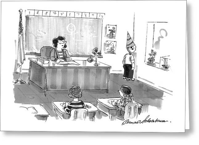 New Yorker December 7th, 1998 Greeting Card by Bernard Schoenbaum
