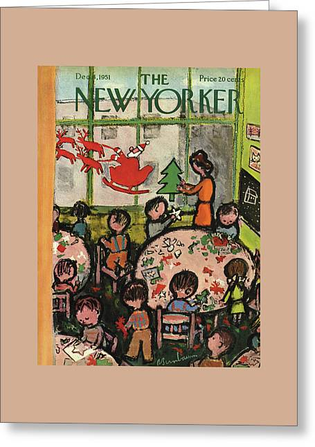 New Yorker December 8th, 1951 Greeting Card by Abe Birnbaum