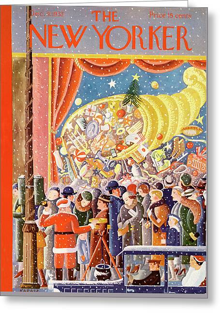New Yorker December 9th, 1933 Greeting Card by Ilonka Karasz