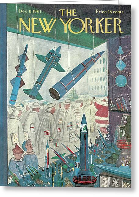 New Yorker December 9th, 1961 Greeting Card by Anatol Kovarsky