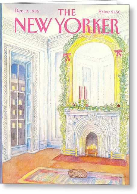 New Yorker December 9th, 1985 Greeting Card