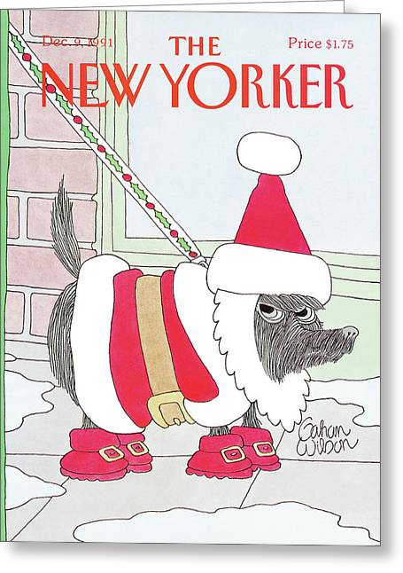 New Yorker December 9th, 1991 Greeting Card by Gahan Wilson