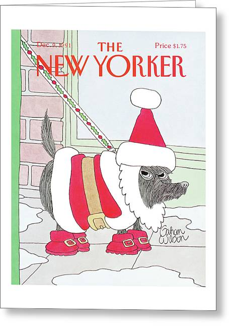 New Yorker December 9th, 1991 Greeting Card