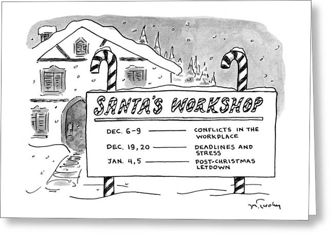 New Yorker December 9th, 1991 Greeting Card by Mike Twohy