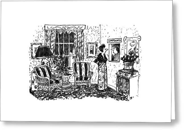 New Yorker December 9th, 1991 Greeting Card by Robert Weber