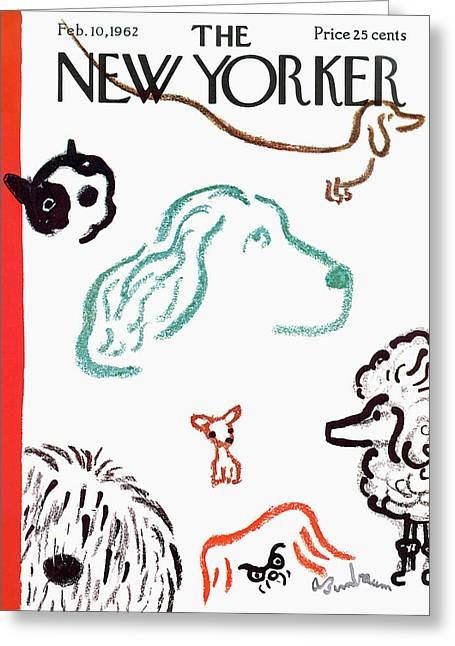 New Yorker February 10th, 1962 Greeting Card