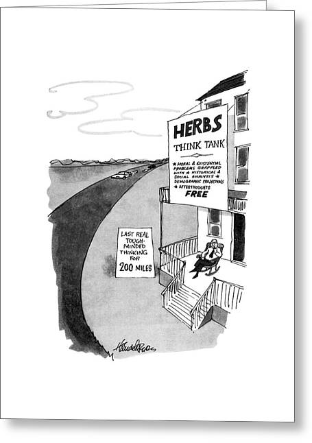 New Yorker February 10th, 1975 Greeting Card by J.B. Handelsman