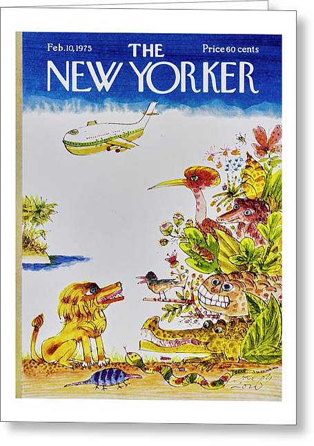New Yorker February 10th 1975 Greeting Card