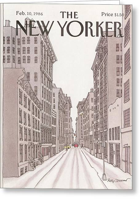 New Yorker February 10th, 1986 Greeting Card by Roxie Munro