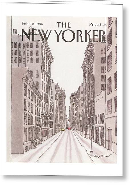 New Yorker February 10th, 1986 Greeting Card