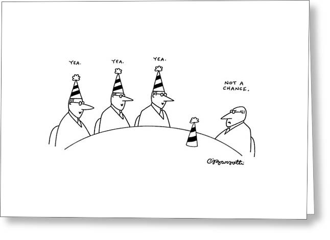 New Yorker February 10th, 1992 Greeting Card by Charles Barsotti