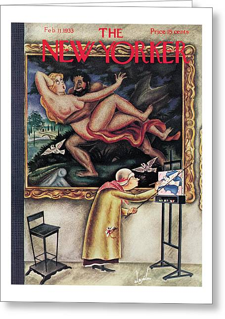New Yorker February 11th, 1933 Greeting Card