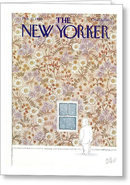 New Yorker February 11th, 1980 Greeting Card