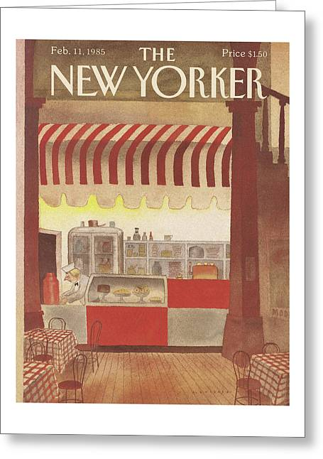 New Yorker February 11th, 1985 Greeting Card