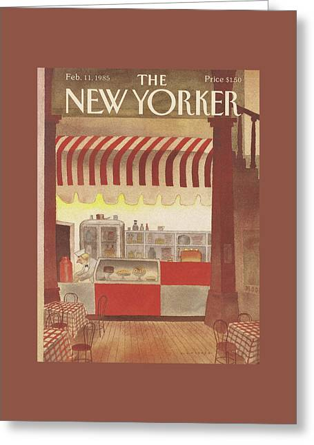 New Yorker February 11th, 1985 Greeting Card by Abel Quezada