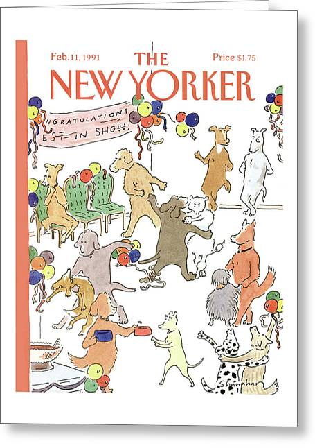 New Yorker February 11th, 1991 Greeting Card