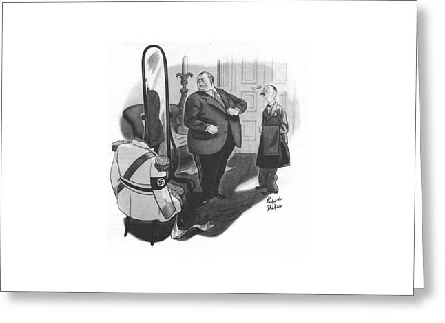 New Yorker February 12th, 1944 Greeting Card by Richard Decker