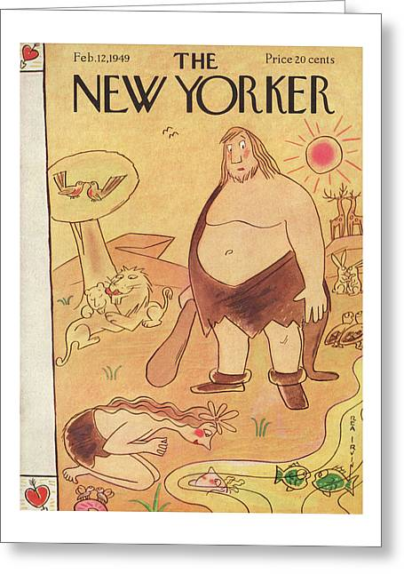 New Yorker February 12th, 1949 Greeting Card