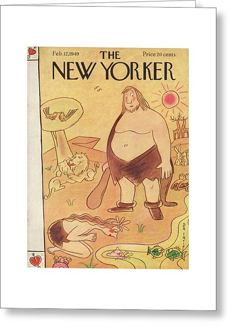 New Yorker February 12th, 1949 Greeting Card by Rea Irvin