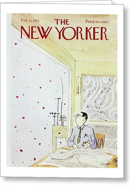 New Yorker February 12th 1972 Greeting Card