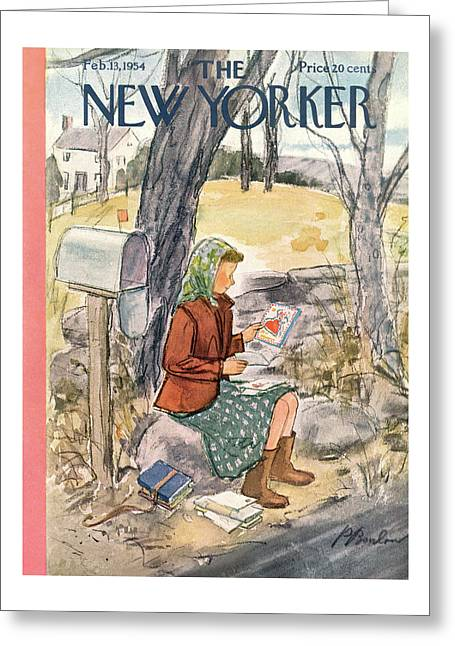 New Yorker February 13th, 1954 Greeting Card
